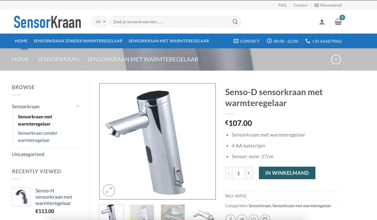 sensor-kraan.nl-productpagina